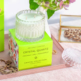 Mrs. Darcy | Crystal Collection Candle Crystal Quartz: Coconut, Lime & Passionfruit