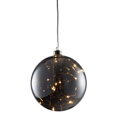 Rogue | Luminous LED Large Light Christmas Ball Decoration in Grey