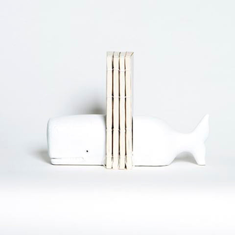Ivory House | Whale Bookends