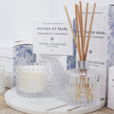 Mrs. Darcy | Crystal Collection Diffuser Mother of Pearl: Lemongrass + Coconut