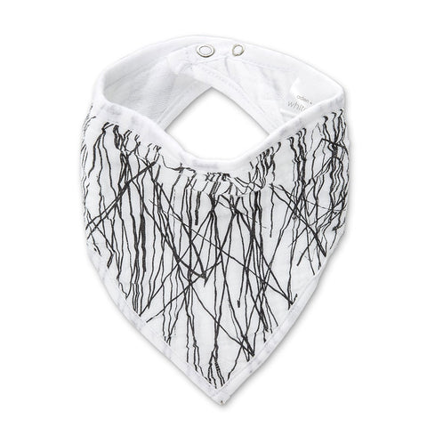 aden + anais | Classic Cotton Bandana Bib White Label in Sage Advice