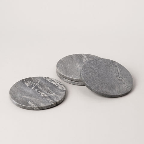 123home | Round Grey Marble Coaster