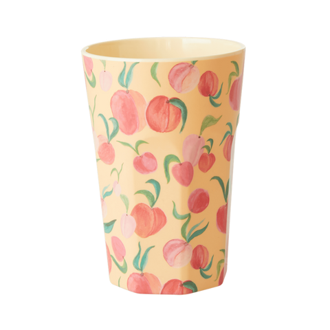 RICE | Tall Large Melamine Cup in Peach Print