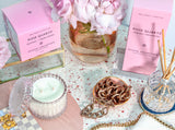 Mrs. Darcy | Crystal Collection Diffuser Rose Quartz: Peonies + Fresh Roses
