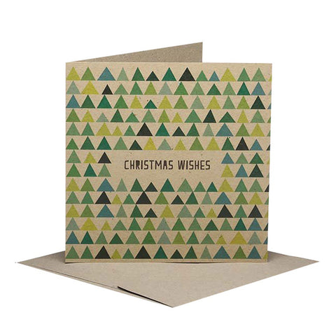 Rhicreative | Triangle Pine Trees Christmas Gift Card