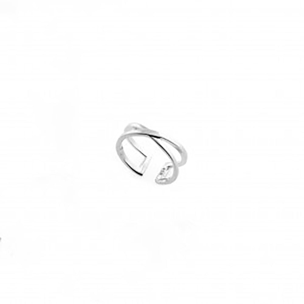 123home | Sterling Silver (925) Crossed Ear Cuff