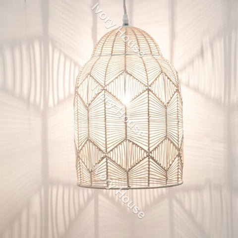 Ivory House | Woven Light Shade in Natural Jute