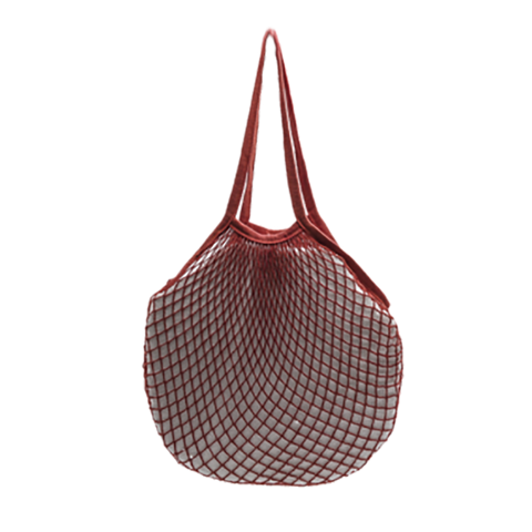 choose2reuse | Cotton Mesh Market Shopping String Bag in Orange Rust