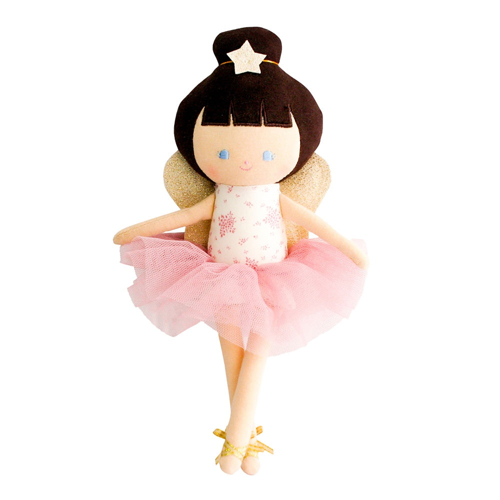Alimrose Designs | Bella Baby Fairy Doll in Pink Floral with Gold Detail