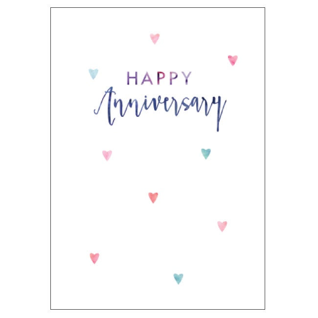 Candle Bark Creations | Anniversary Hearts Watercolour Gift Card