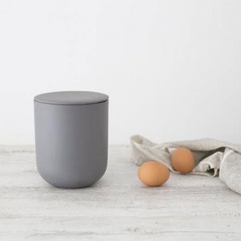 Ivory House | LargeMatte  Flax Jar with Lid in Charcoal Grey