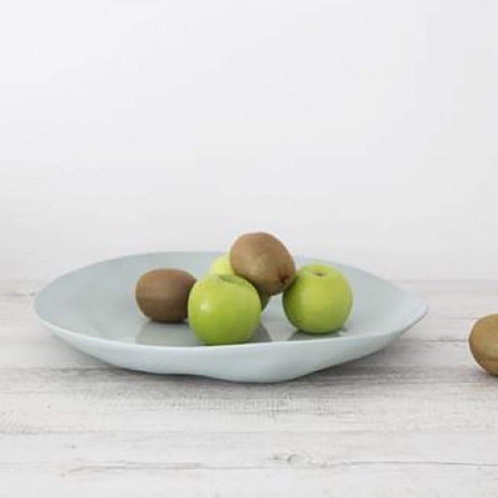 Ivory House | Flax Ceramic Charger Serving Plate in Duck Egg Blue
