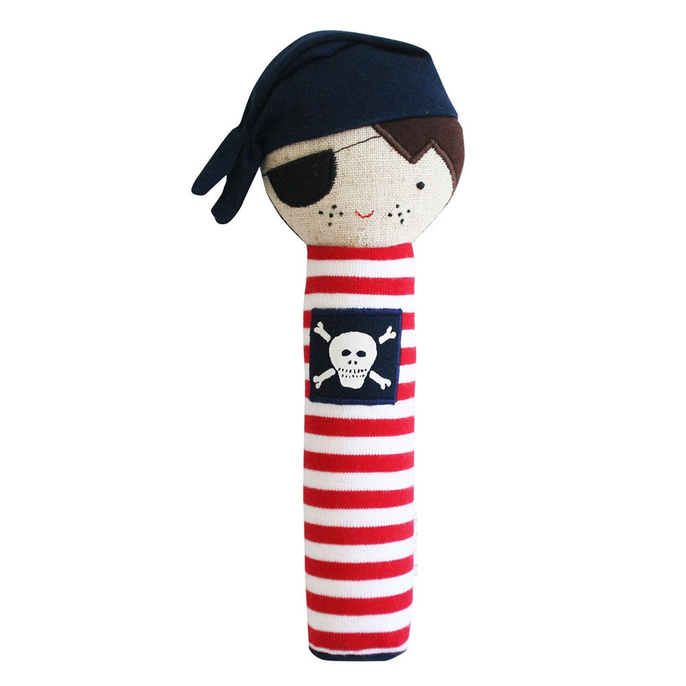 Alimrose | Linen Pirate Squeaker Toy in Navy