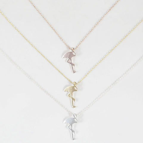 sophari | Flamingo Necklace in silver, 18k gold or rose gold plated