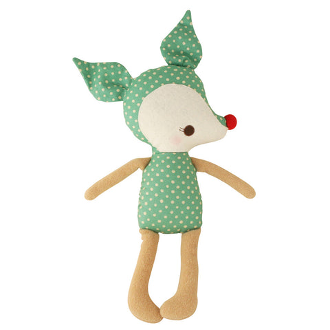Alimrose | Reindeer Rudolph Rattle in Green