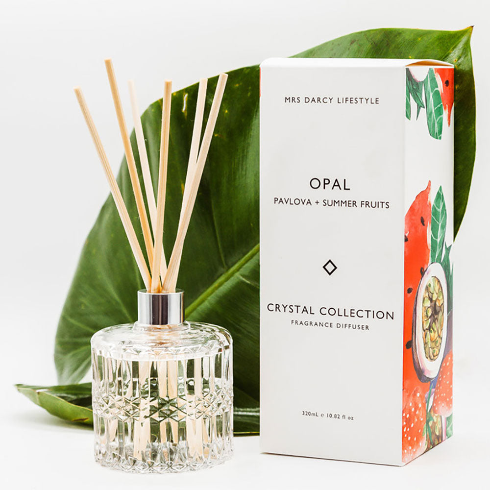 Mrs Darcy | Crystal Collection Diffuser Opal: Pavlova and Summer Fruits