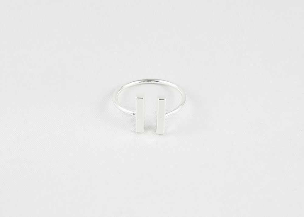 sophari | Parallel Ring in silver plated