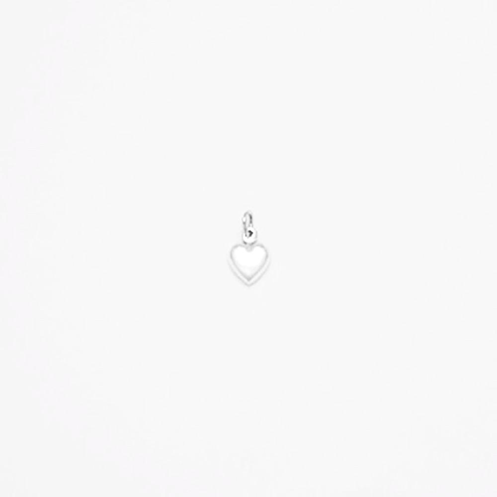 123home | Sterling Silver (925) Tiny Heart Pendant for Necklace