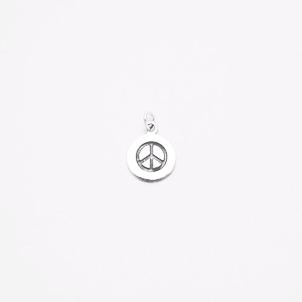 123home | Sterling Silver (925) Peace Sign Pendant for Necklace