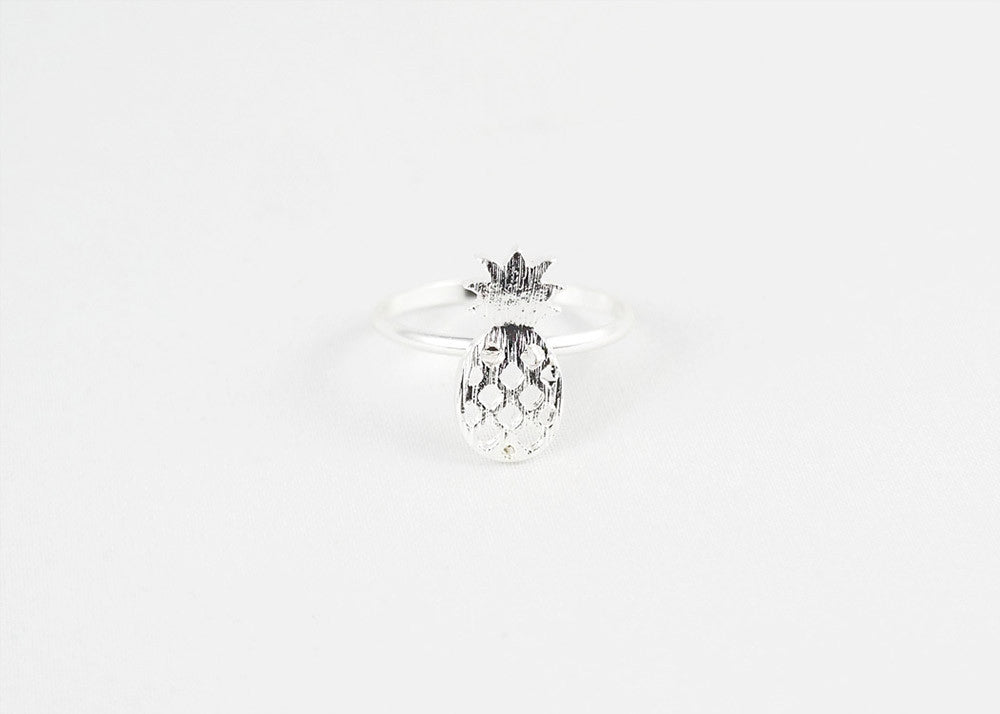 sophari | Pineapple Ring in silver plated