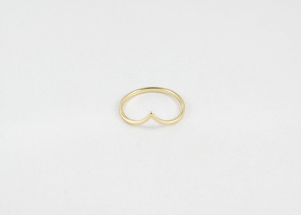 sophari | Point thin ring in 18k gold plated