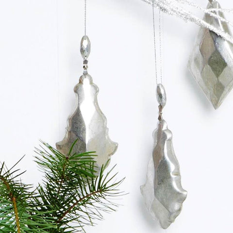 Ivory House | Silver Drop Christmas Decoration