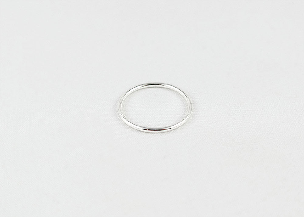 sophari | Thin stackable ring in silver plated