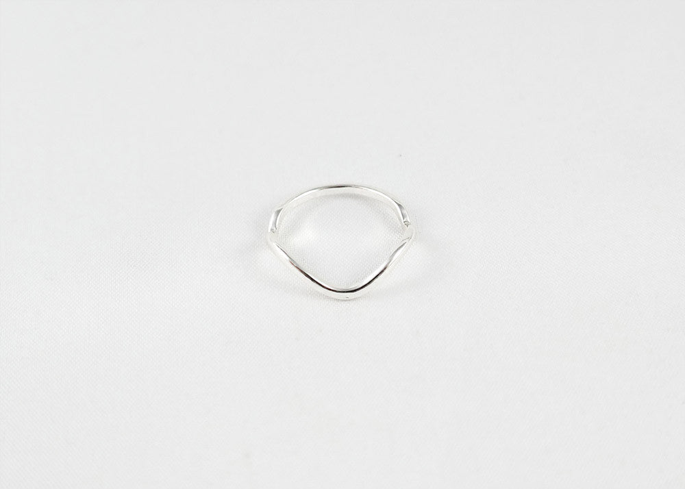 sophari | Wave thin ring in silver plated