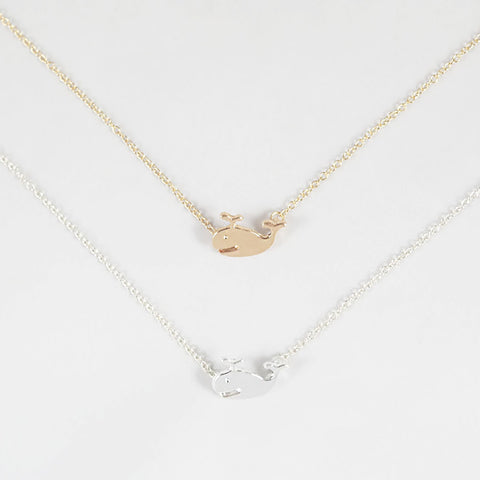 sophari | Whale Necklace in silver or 18k gold plated