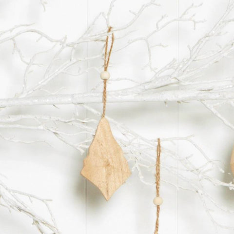 Ivory House | Timber Diamond Christmas Decoration