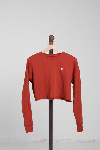 Cropped Sweater - Brick