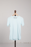 Sueded T-Shirt - Ice Blue