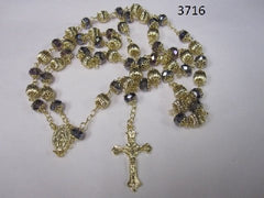 Dark Blue Crystal Rosary