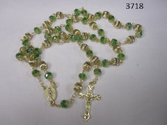 Green Crystal Rosary