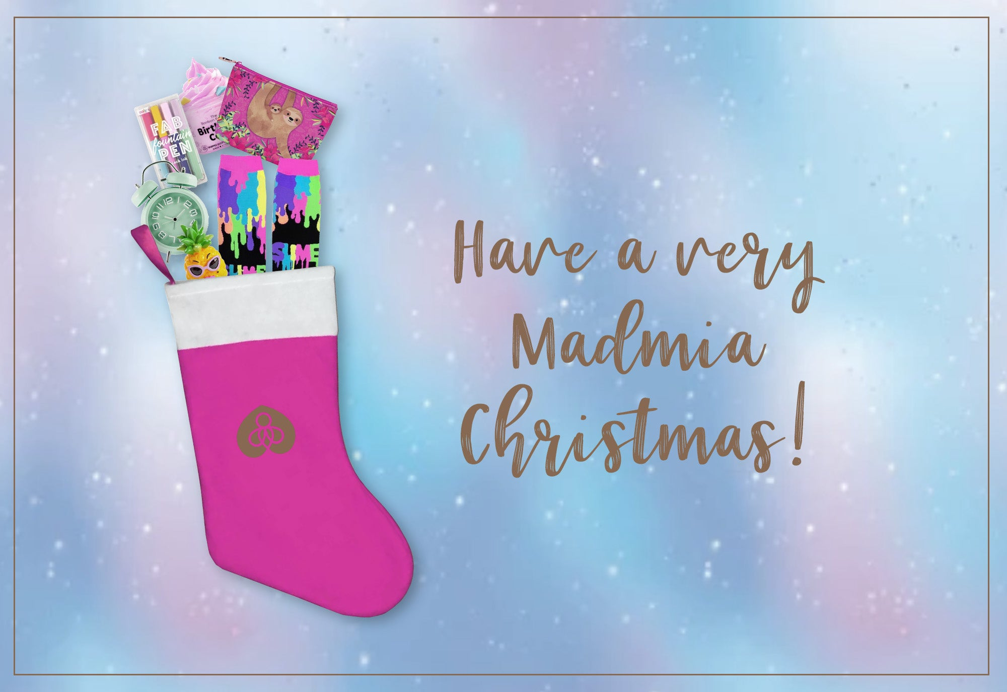 You can't go wrong with a Christmas stocking packed with goodies from Harper Bee and Madmia.