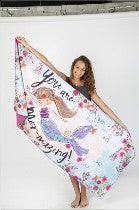 C&S - Micro Beach Towel - Mermaid