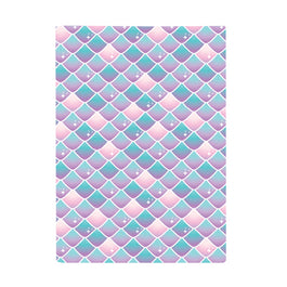 Harper Bee Book Cover A4 - Mermaid Off Duty Mermaid Scales