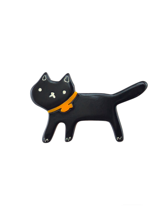 Black Felix Brooch
