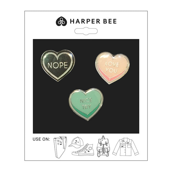 Harper Bee Badges - Hearts