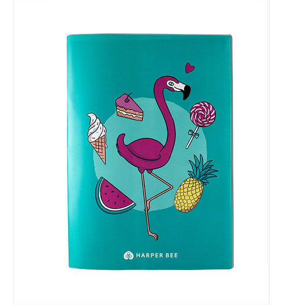 Harper Bee Book Cover A4 - Flamingo