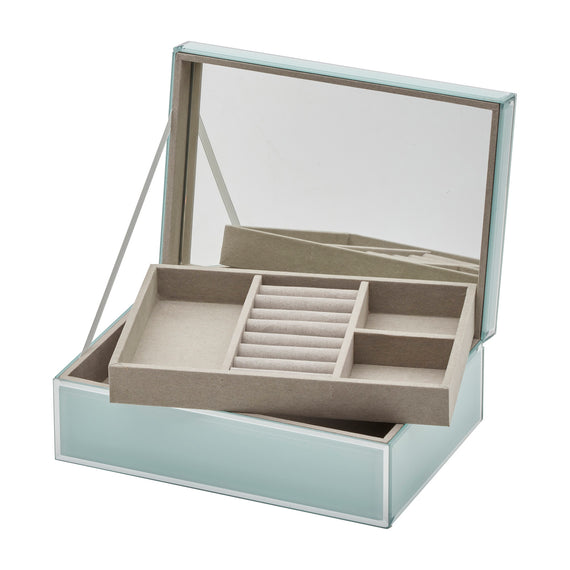Ellie Mint Large Jewellery Box