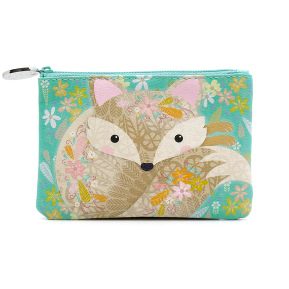 Aird - Coin Purse - Aqua Fox