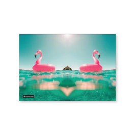 Exercise Book Cover  - Flamingo Floatie