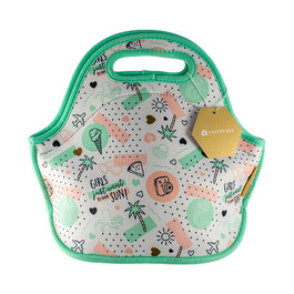 Harper Bee Neoprene Lunch Bag - Tropical Holiday