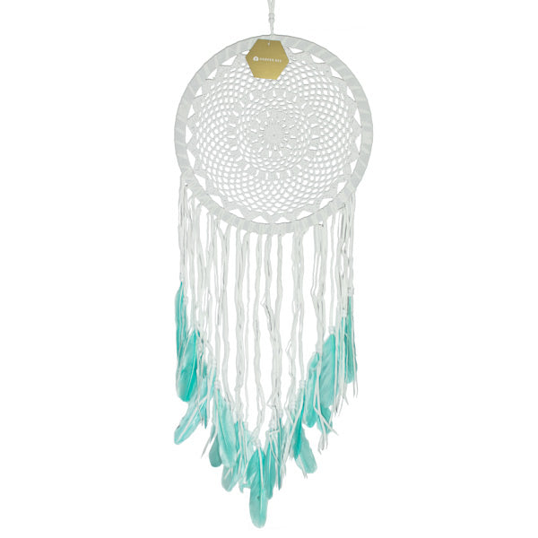Dreamcatcher - 30cm Aqua Feather