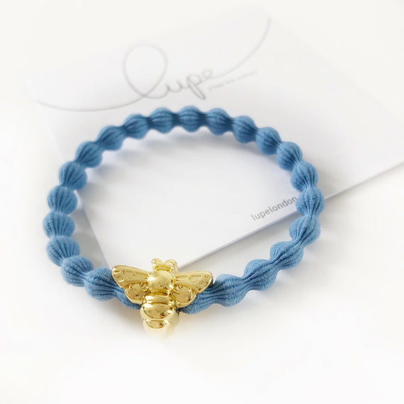 Lupe Hair Bracelet - Bee Denim Gold