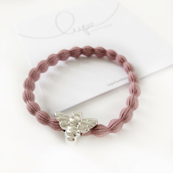 Lupe Hair Bracelet - Bee Blush Silver