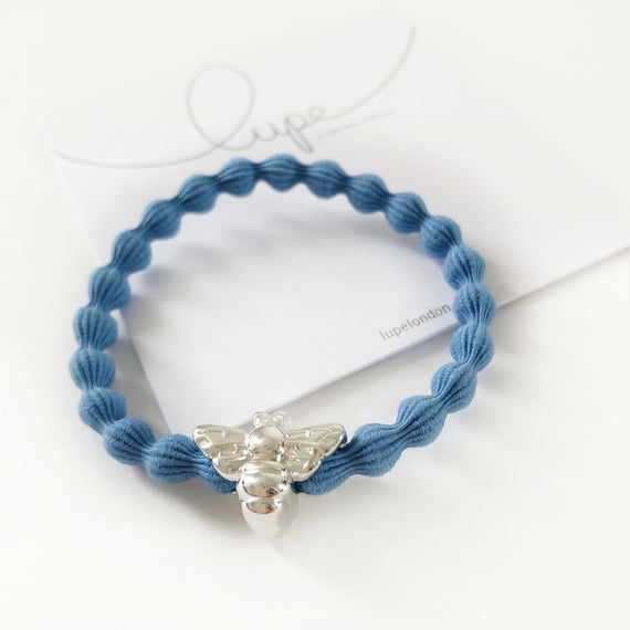 Lupe Hair Bracelet - Bee Denim Silver