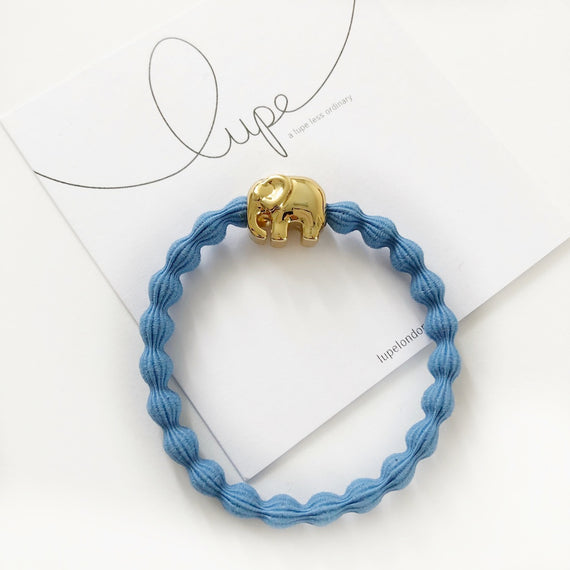 Lupe Hair Bracelet - Elephant Denim Gold