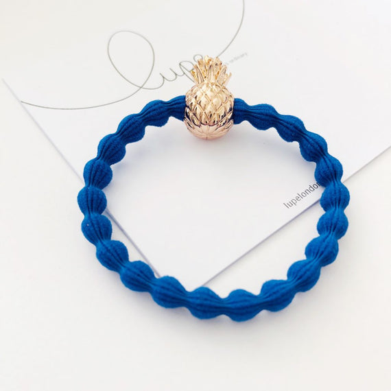 Lupe Hair Bracelet - Pineapple Blue Rose Gold